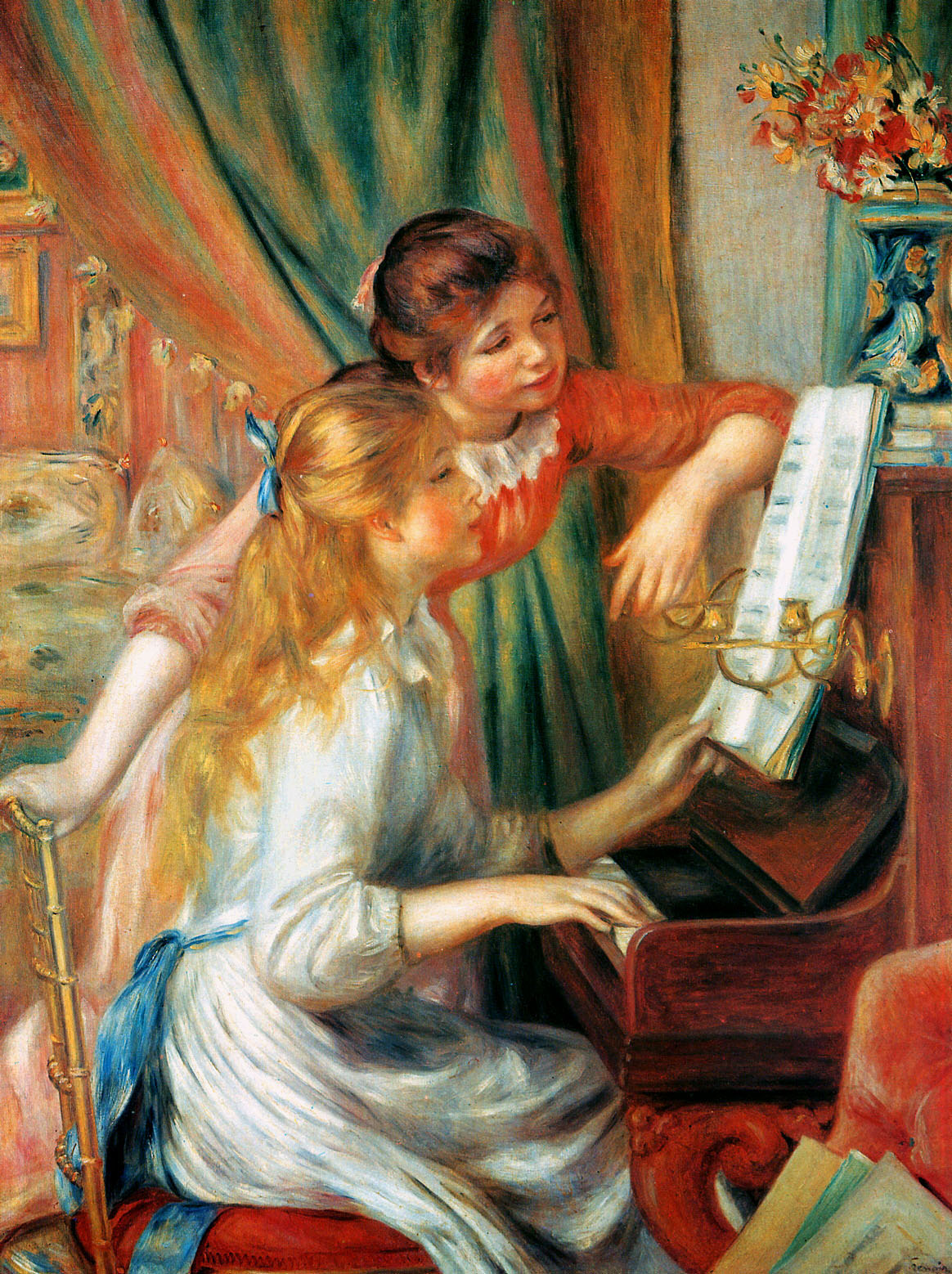 Two Girls at the Piano by Pierre Auguste Renoir, 1892
