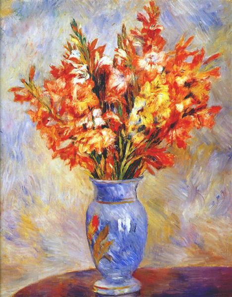 Gladioli, 1884 - Pierre-Auguste Renoir