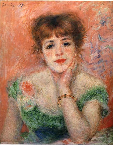 Jeanne Samary in a Low Necked Dress, 1877 - Pierre-Auguste Renoir