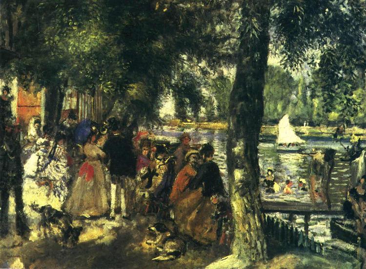 La Grenouillere, 1869 - Pierre-Auguste Renoir