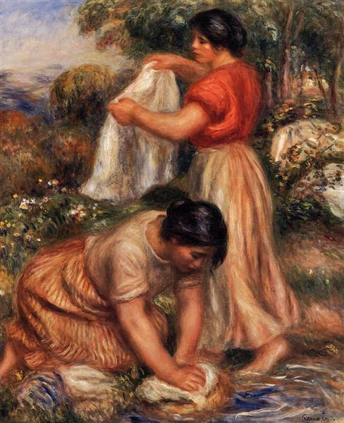 Laundresses, c.1912 - Pierre-Auguste Renoir