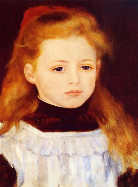 Little Girl in a White Apron (Portrait of Lucie Berard), 1884 - Auguste Renoir