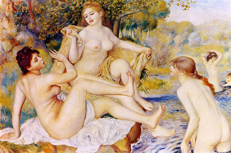 As Grandes Banhistas, 1887 - Pierre-Auguste Renoir