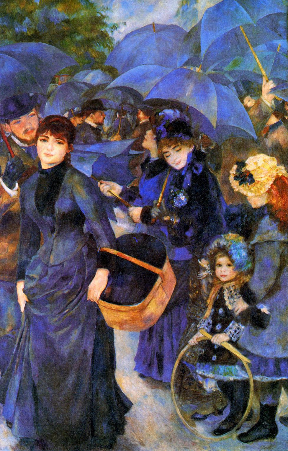 Umbrellas, 1885 - 1886 - Pierre-Auguste Renoir - WikiArt.org