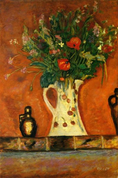 Flowers on a Mantlepiece, 1913 - Pierre Bonnard