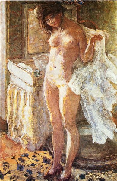 In the Bathroom, 1907 - Pierre Bonnard