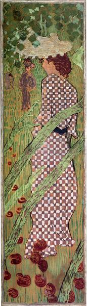 Woman in a Checked Dress, 1892 - 1898 - Pierre Bonnard