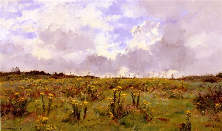 Apres la Giboulee, Sologne, 1891 - Pierre Emmanuel Eugène Damoye