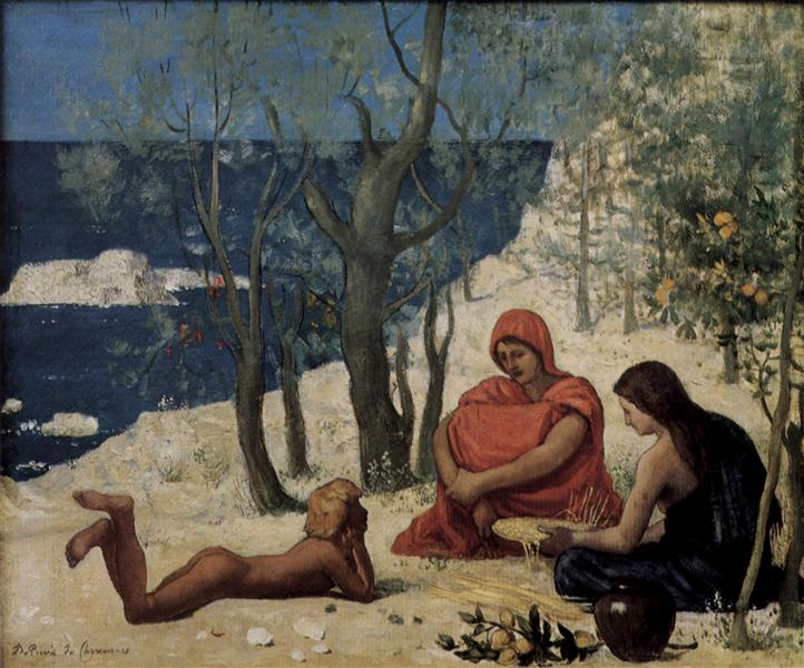 Greek Colony, Marseille, 1869 - 1872 - Pierre Puvis de Chavannes