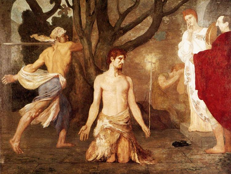 The Beheading of St. John the Baptist, c.1869 - Pierre Puvis de Chavannes
