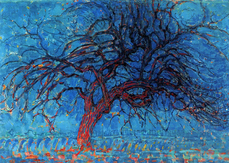 Avond Evening The Red Tree 1908  1910  Piet Mondrian
