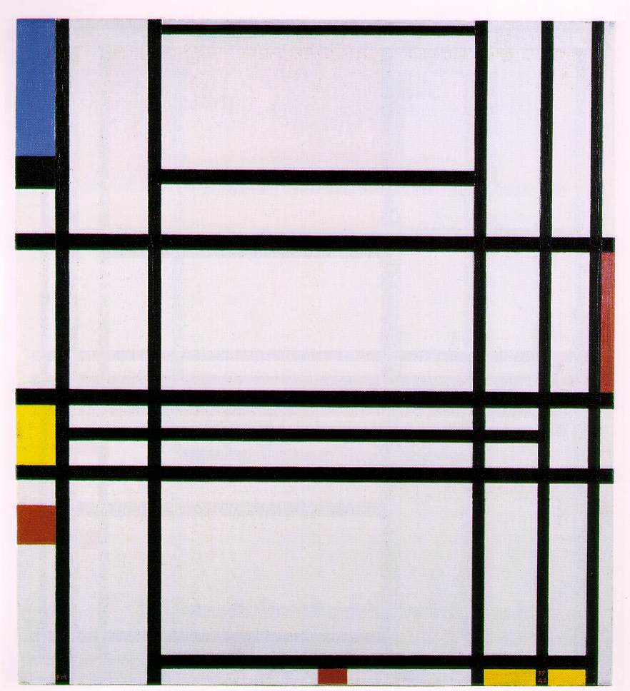 the minimalist movement composition 1939 1942 piet mondrian