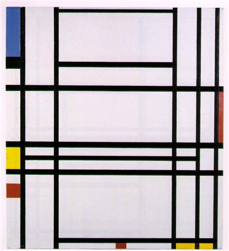 Composition No 10, Piet Mondrian