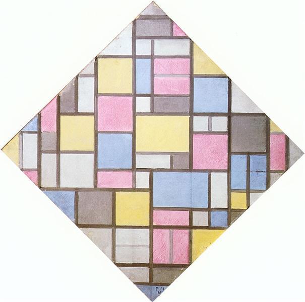 Composition with Grid VII, 1919 - Piet Mondrian