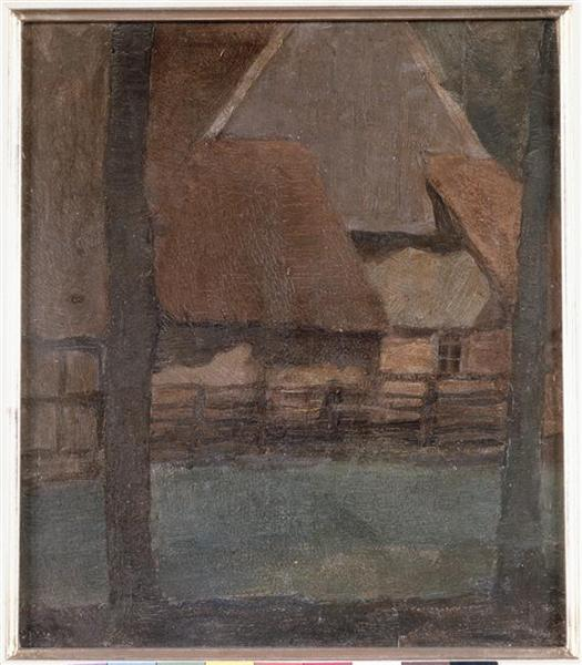 Gable Farm with trees - Piet Mondrian