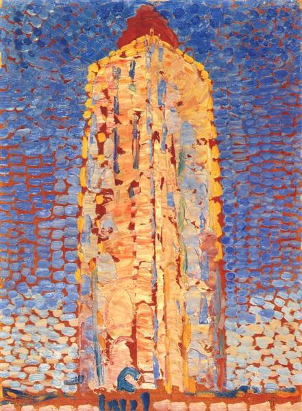 Lighthouse in Westkapelle, 1909 - Piet Mondrian