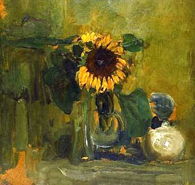 Still life with Sunflower, 1907 - Piet Mondrian