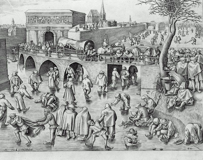Ice Skating before the Gate of Saint George, Antwerp, 1553