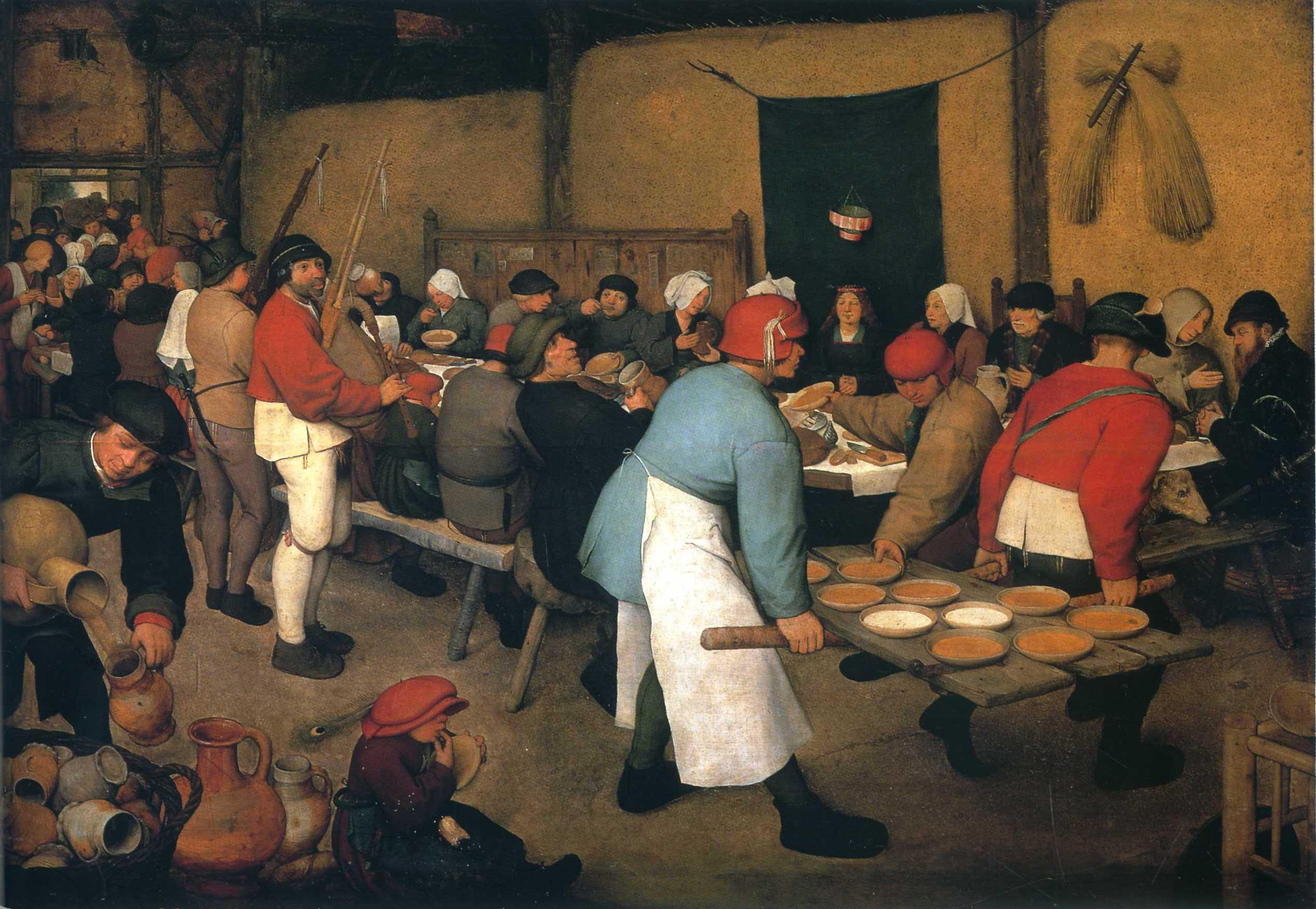 Peasant Wedding 1568 Pieter Bruegel The Elder