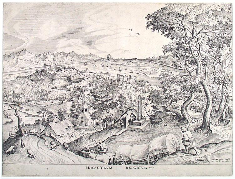 The cart, the Belgic - Pieter Bruegel the Elder