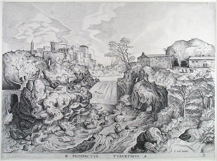 View of Tivoli, c.1555 - c.1556 - Pieter Bruegel the Elder