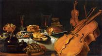 Still Life with Musical Instruments - Pieter Claesz