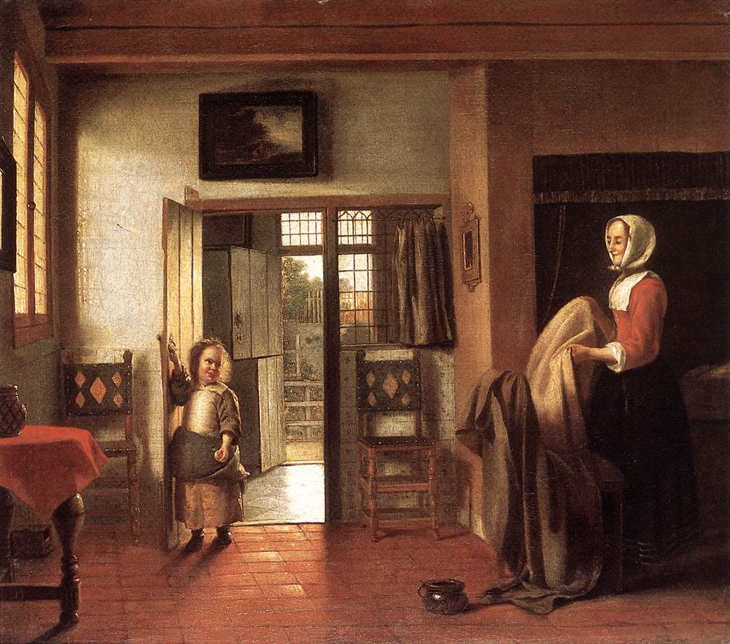 The Bedroom Pieter De Hooch Encyclopedia Of Visual Arts