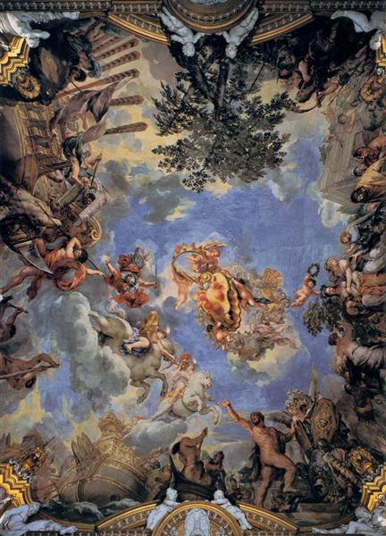 Ceiling Fresco with Medici Coat of Arms, 1643 - 1644 - Pietro da Cortona