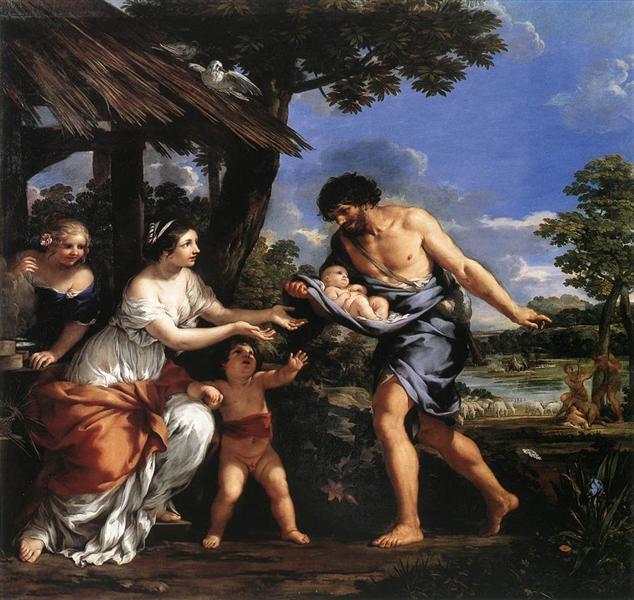 Romulus and Remus Given Shelter by Faustulus, c.1634 - Pietro da Cortona