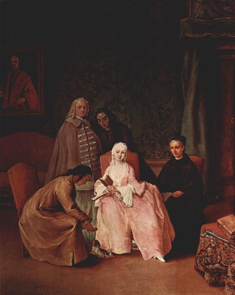 A Visit to a Lady, 1746 - П'єтро Лонгі