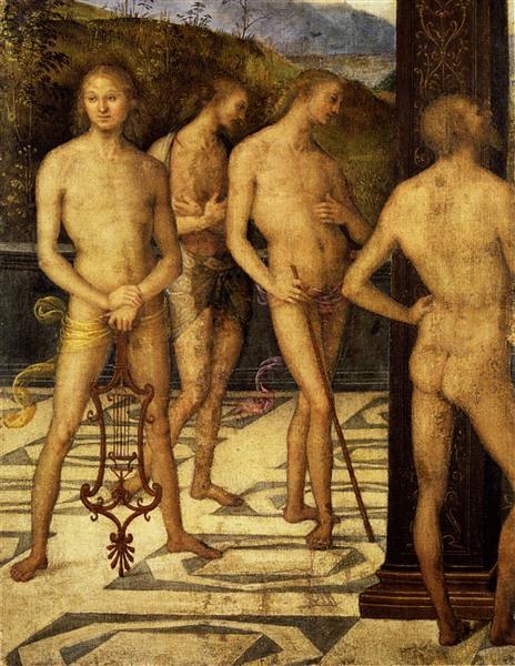 Four naked, 1505 - Pietro Perugino