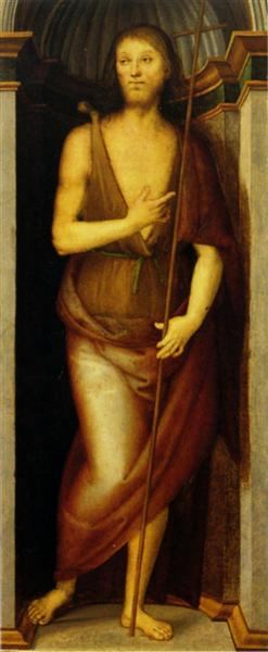 Polyptych Annunziata (John the Baptist) - Pietro Perugino