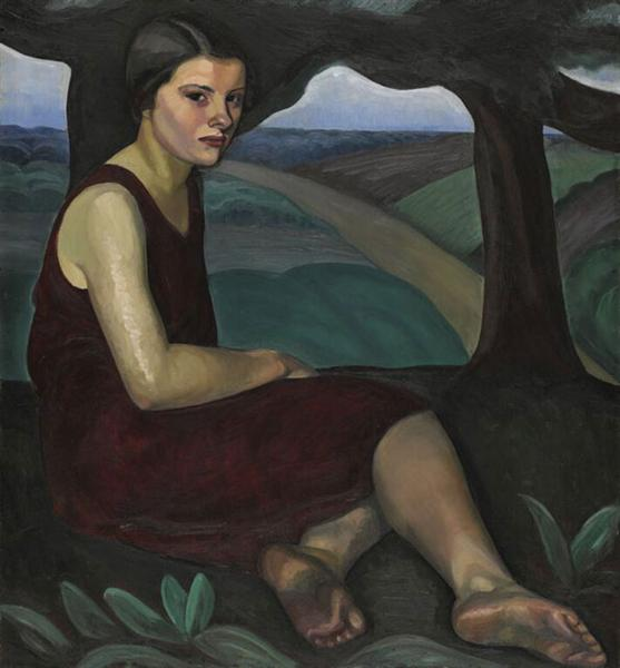 Girl on a Hill, 1928 - Prudence Heward