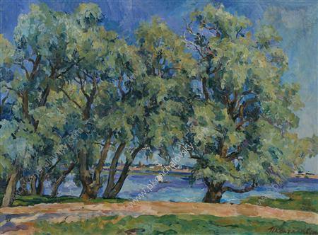 Blue willows, 1926