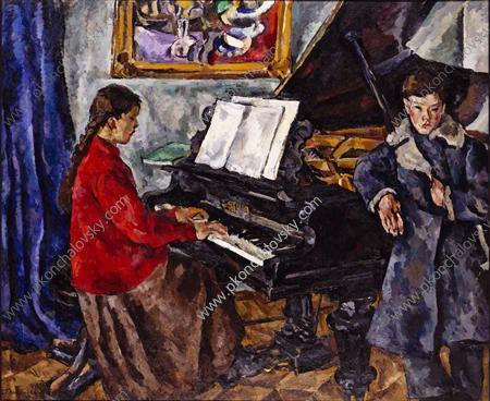 Дети у рояля, 1919 - Пётр Кончаловский