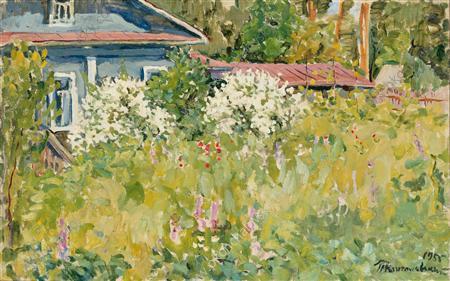 Jasmine bush, 1955 - Pyotr Konchalovsky