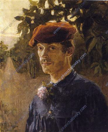 Portrait of the artist's brother, Maxim Petrovich, with cap, 1894