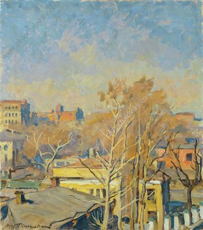 Spring in Moscow. Konyushkovskaya street., 1943