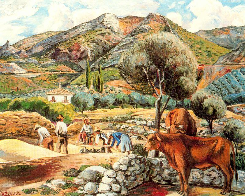 Landscape with artist 39 s farmhouse in fique 1940 rafael - Paisajes de casas de campo ...