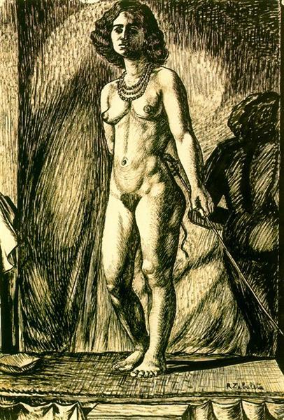 Nude Woman - Rafael Zabaleta