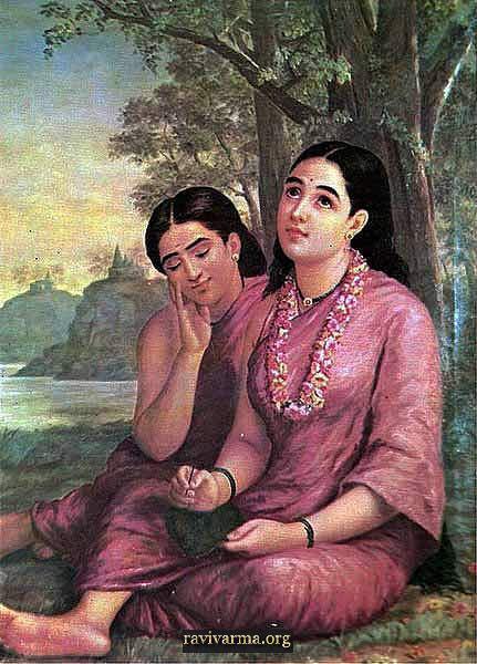 Dreaming Shakuntala - Raja Ravi Varma