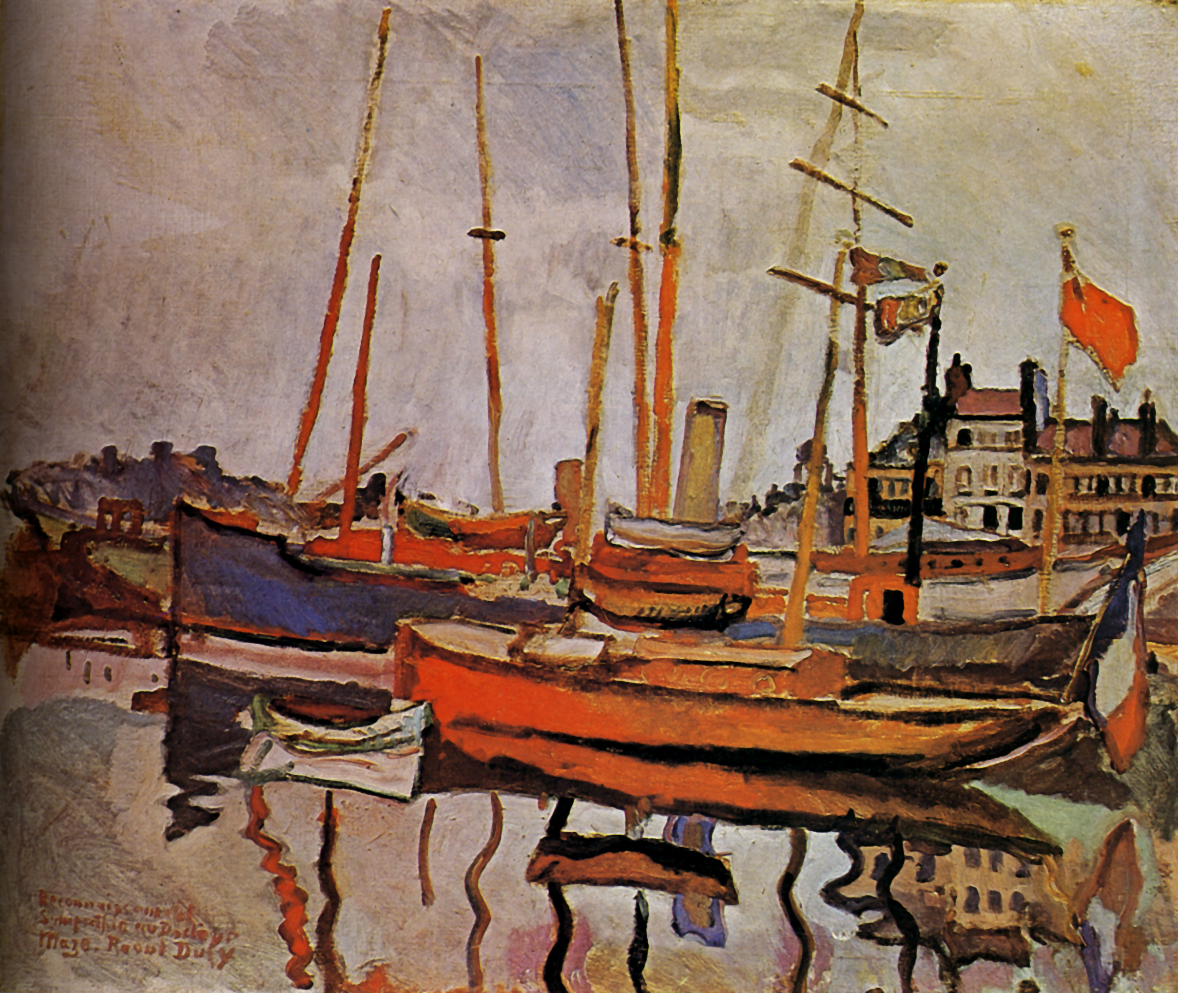 the port of le havre 1906 raoul dufy. Black Bedroom Furniture Sets. Home Design Ideas