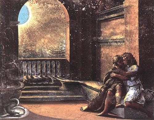 Isaac and Rebecca Spied upon by Abimelech - Raphael