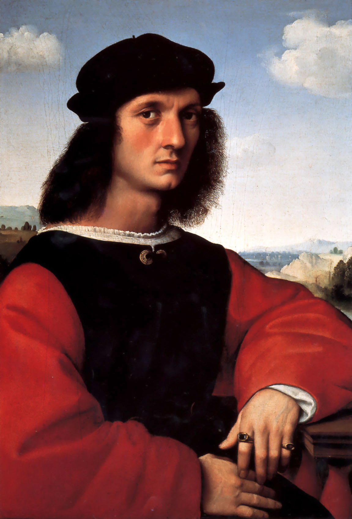 Portrait of Agnolo Doni, 1505-1506