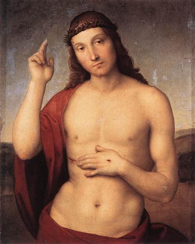 The Blessing Christ - Raphael