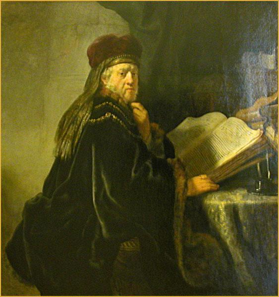 A Scholar Seated at a Table with Books, 1634 - Rembrandt