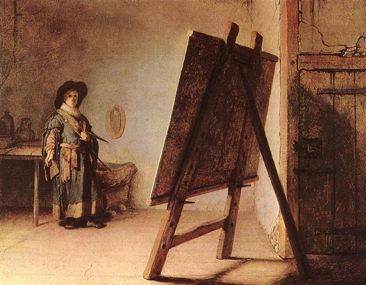 Artist in his Studio, 1626 - Rembrandt