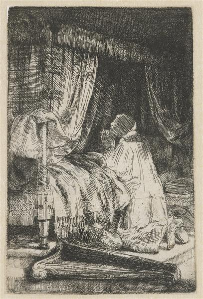 King David at prayer, 1652 - Rembrandt