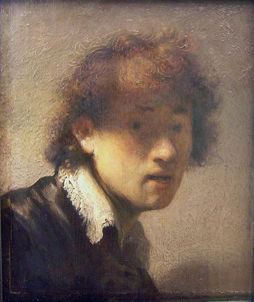 Self-portrait at an early age, 1629 - Rembrandt