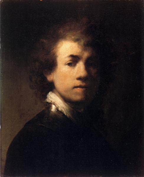 Self-portrait In A Gorget, c.1629 - Rembrandt